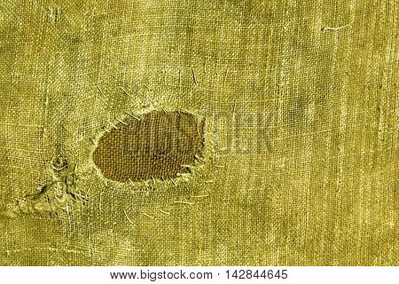 Textile Sack Texture With Patch.