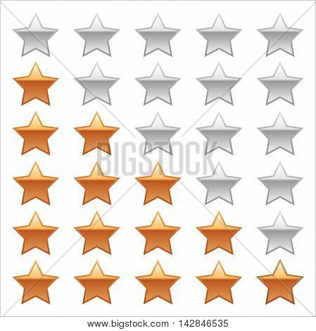 Ratings Stars on white background. Adobe illustrator