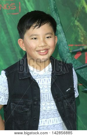 LOS ANGELES - AUG 14: Albert Tsai at the premiere of Focus Features' 'Kubo and the Two Strings' at AMC Universal City Walk on August 14, 2016 in Los Angeles, California