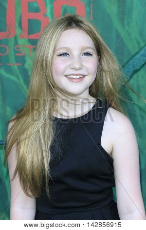 LOS ANGELES - AUG 14: Ella Anderson at the premiere of Focus Features' 'Kubo and the Two Strings' at AMC Universal City Walk on August 14, 2016 in Los Angeles, California