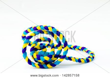 Nylon rope color full  on white table