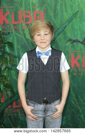 LOS ANGELES - AUG 14: Casey Simpson at the premiere of Focus Features' 'Kubo and the Two Strings' at AMC Universal City Walk on August 14, 2016 in Los Angeles, California