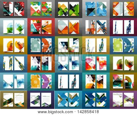 Mega set of business brochure annual report covers