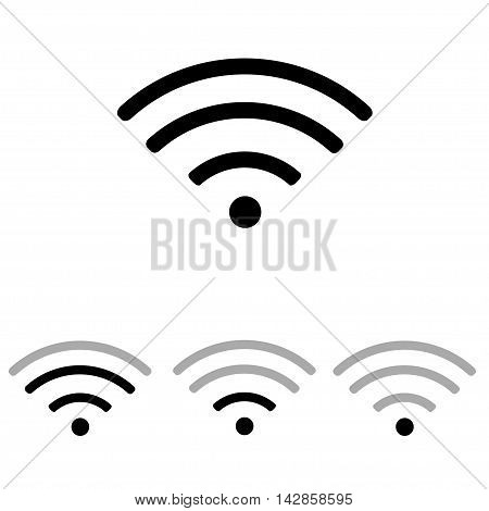 Set of Vector wifi icons. internet icons