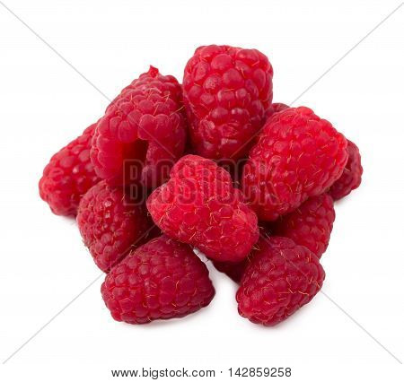 The raspberry berries isolated d d d