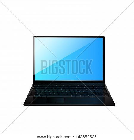 Icon of the laptop. Vector illustration 10 eps