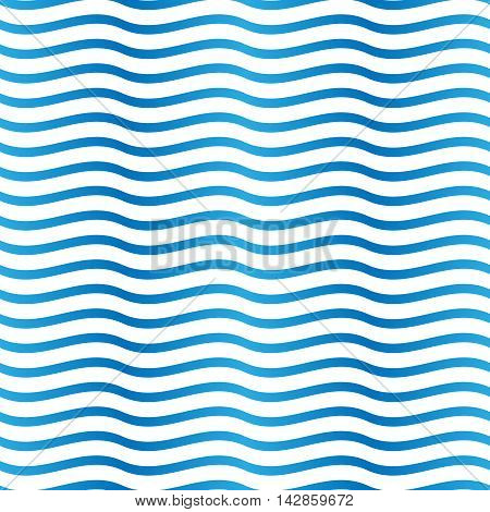 Seamless blue and white background pattern. Suitable for fabric, greeting card, advertisement, wrapping. Bright and colorful abstract ocean waves