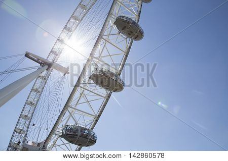 Looking Up At The Coca Cola London Eye