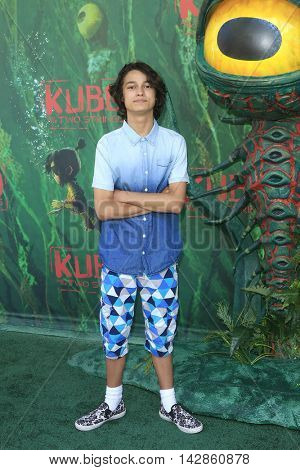 LOS ANGELES - AUG 14: Rio Mangini at the premiere of Focus Features' 'Kubo and the Two Strings' at AMC Universal City Walk on August 14, 2016 in Los Angeles, California