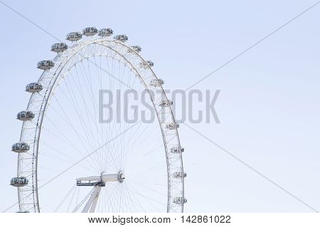 Coca Cola London Eye With Clear Blue Skies