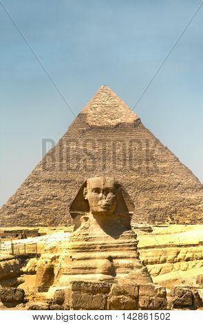 The Pyramids And The Sphinx At Giza. Egypt. September 2008