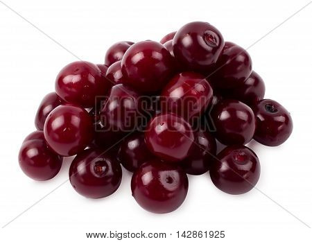 The ripe cherry isolated d d d
