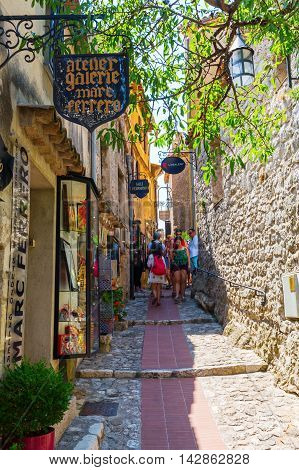 Alley In The Medieval Village Of Eze, France