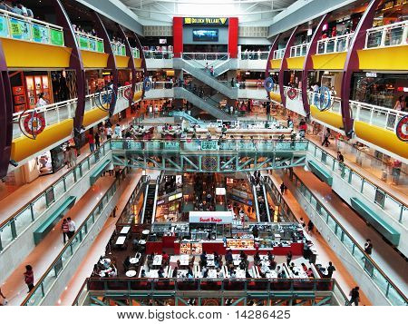 inside Plaza Singapura shopping mall in Singapore