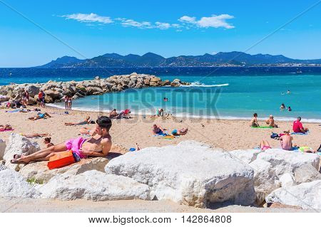 City Beach Of Cannes, Cote Dazur, France