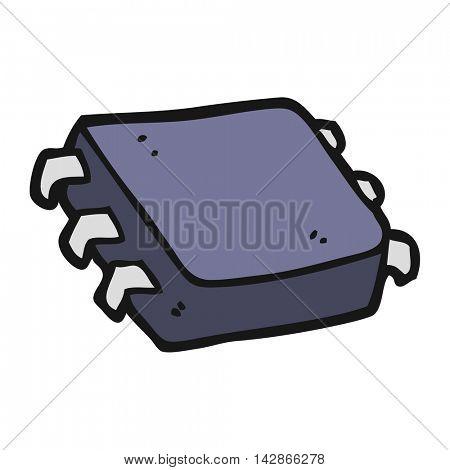 freehand drawn cartoon computer chip