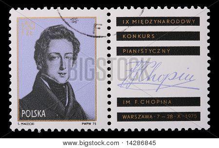 Poland - Circa 1975: A Stamp - Frederic Chopin