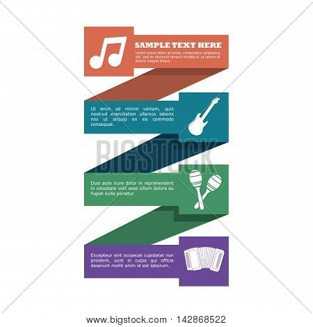 guitar maraca accordion infographic music sound icon. Flat and Colorful illustration. Vector illustration