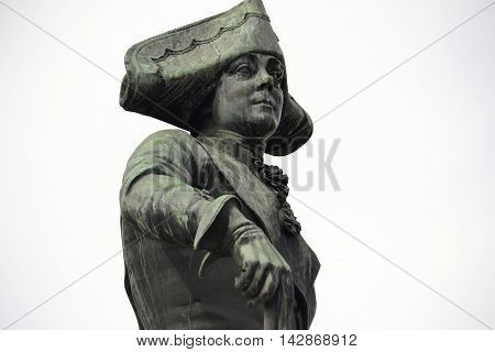 statue of the Russian Emperor Paul I in Gatchina Russia
