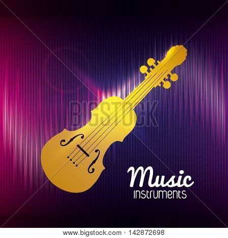 cello music sound instrument icon. Flat and Colorful illustration. Vector illustration