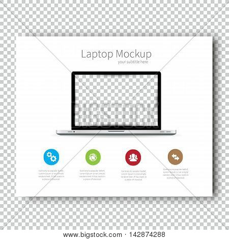 Business Template brochure Mockup laptop flyer design Presentation. Very easy to use for your next project.