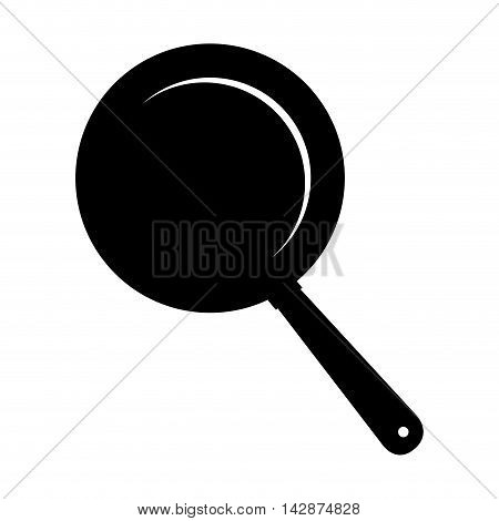 pan frying kitchen utensil handle cook fry  vector  isolated illustration