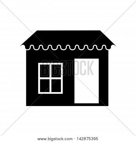 door window roof exterior structure porch door  vector  isolated illustration