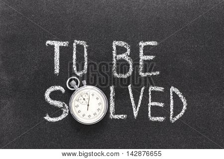 To Be Solved Watch