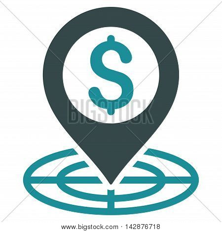 Financial Crosshair icon. Vector style is bicolor flat iconic symbol with rounded angles, soft blue colors, white background.