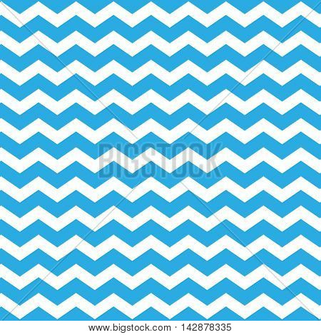 Blue Zig Zag Lines Pattern - Chevron Background Design