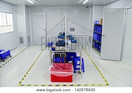 Empty testing and QC room at factory