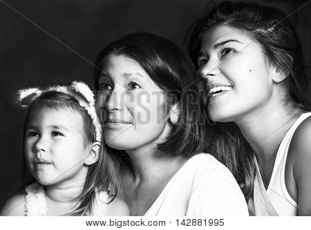 Generation. Grandmother, daughter, granddaughter - happy together