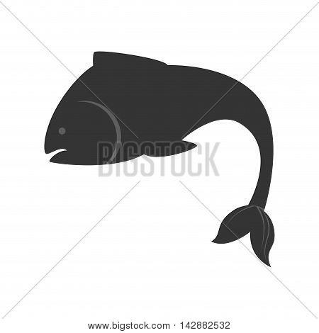 fish animal sea aquatic aquarium swim silhouette nature ocean vector  illustration isolated