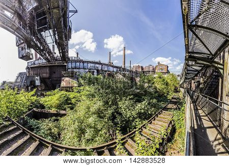 Panorama of Volklingen Ironworks in Saar Germany