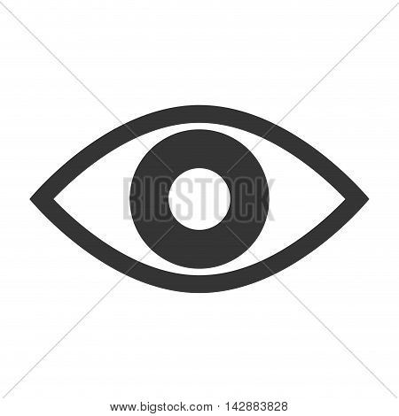 eye look vision human see view watch vector  isolated and flat illustration
