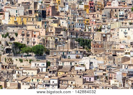 Detail of the world heritage town Ragusa Ibla in Sicily, Italy