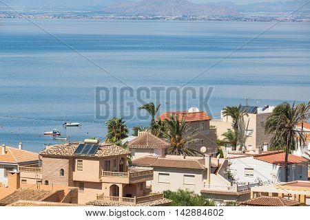 San Javier La Manga, Spain - SEPTEMBER 2015: City view