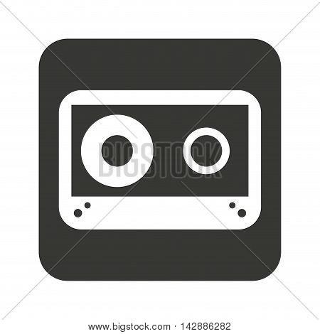 cassette music retro icon vector illustration design