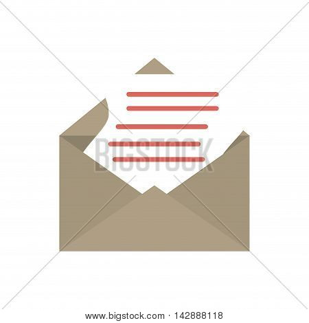 mail message letter envelope correspondence email write vector illustration isolated