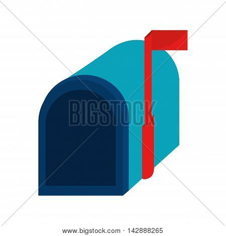mailbox mail correspondence delivery receive open shipping vector  illustration isolated