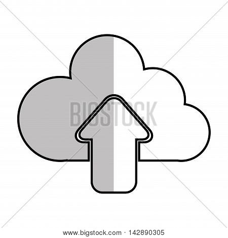 upload cloud files host files system network vector  illustration isolated
