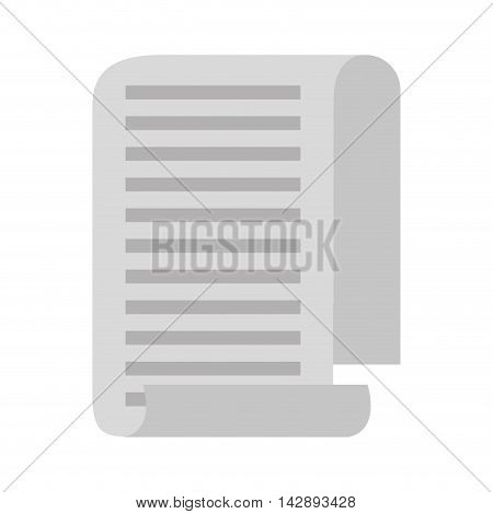 taxes paper receipt icon vector illustration design