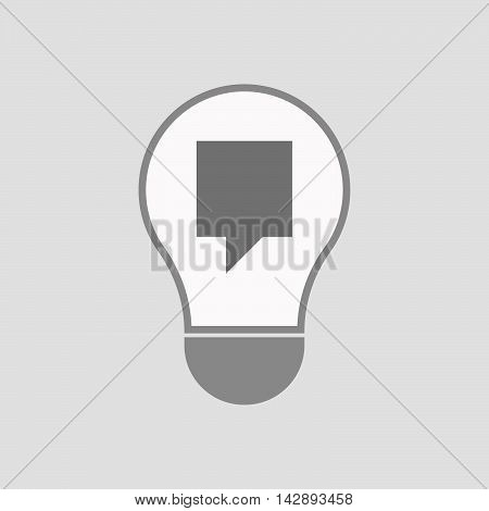 Isolated Line Art Light Bulb Icon With A Tooltip