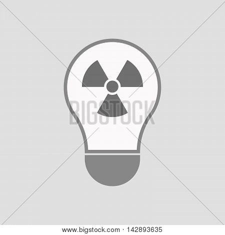 Isolated Line Art Light Bulb Icon With A Radio Activity Sign