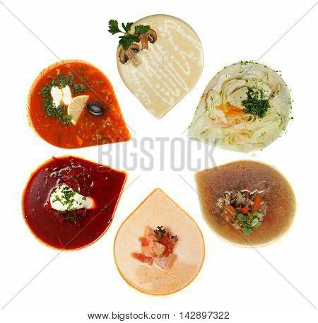 Soup top view - gourmet restaurant food