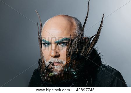 Bearded Frown Man