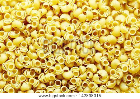 Italian pasta close up for a background