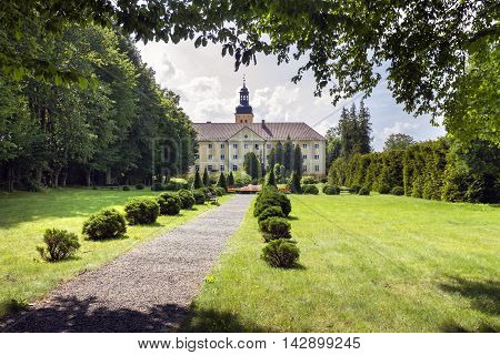 Gardens of Monastery in Stoczek Klasztorny iwhich is mostly known from confinement of Cardinal Wyszynski in 1953 by comunist party in Poland.