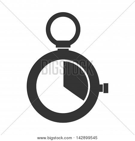 chronometer device time countdown counter button training vector  illustration isolated