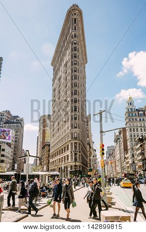 Flatiron Building At Nyc